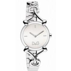 D Dolce & Gabbana Women's DW0681 Flock Silver Case Silver Dial Spaghetti Bracelet Watch