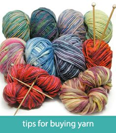 Tips for buying yarn