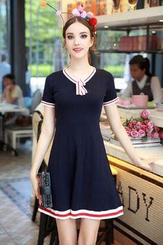 eVintageLife - OP13082015A V neck knitted dress, $65.00 (http://evinlife.com/op13082015a-v-neck-knitted-dress/)