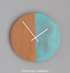 Remodelaholic   DIY Two-Tone Copper Clock