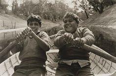 Mervyn Bishop  (Australia 1945– )    Language group  Northern Riverine region  Title  Cousins, Ralph and Jim, Brewarrina  Year  1966  printed 2008  Media  Photograph  Medium  gelatin silver photograph  Dimensions  30.0 x 40.0cm sheet