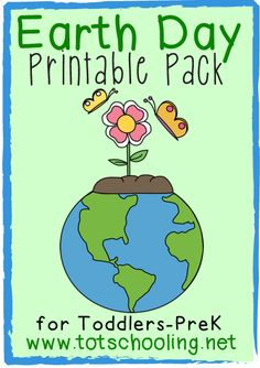 Free Earth Day Printable Pack for Toddlers & Preschool from Totschooling