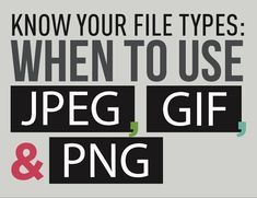 When working with digital image files, certain file types may be better than others, depending on what your targets are. This infographic showcases the best uses for JPEG, GIF, and PNG file formats… Teaching Technology, Educational Technology, Lab Tech, What Image, Apps, Instructional Technology, Image Types, Promote Your Business, Grafik Design