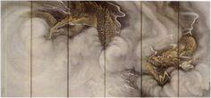 円山応挙 雲龍図屏風 左隻
