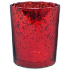 red mercury glass votive cup