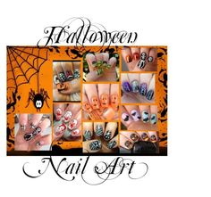 """""""Halloween Nail Art"""" by rebekahp1994 ❤ liked on Polyvore featuring beauty"""