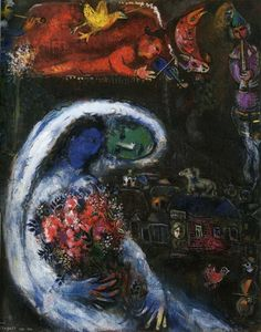 "Marc Chagall - ""Bride with Blue Face"", 1932"