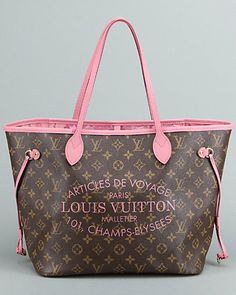 2d267836e6db Louis Vuitton Monogram Canvas Pink Ikat Tote Neverfull MM Gucci Handbags