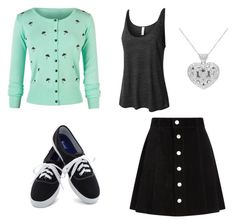 """""""Untitled #109"""" by loverofturtles424 on Polyvore featuring LE3NO, AG Adriano Goldschmied and Keds"""