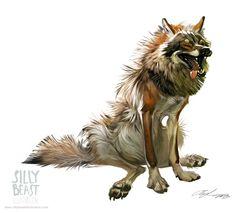 art, illustration, animal, wolf, // Silly Beast Illustrations