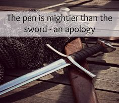 The pen is mightier than the sword - an apology (of sorts)   Words have such power. The power to do small every day kindnesses which are easily forgotten or ignored or the power to do great harm. The other evening I sat down to capture why I feel so out of sorts with blogging and in my usual bulldozer-in-a-meringue-factory style I ranted impulsively without any thought to who would read my words and relate to them as if I wrote it especially for them. This isn't a complete about-turn for…