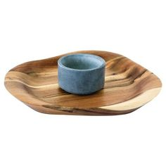 SPARQ Home Acacia Chip & Dip Platter with Soapstone Ramekin : Target