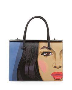Spring 2014 bags - Prada Girl-Print Saffiano Print Satchel Bag ($3,950)