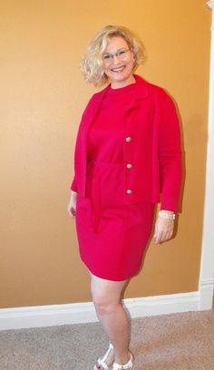 Vintage 60s Dress Dark Pink Zephyr Wool Sleeveless XXL from soulrust on etsy.com  $69.99  VCAT