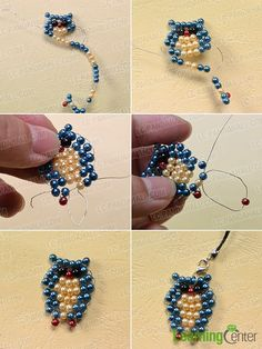 Do you need hanging ornaments? Today, I will share you a Pand… Do you need hanging ornaments? Today, I will share you a Pandahall tutorial on how to make cute owl pearl beads hanging ornaments for kids! Pony Bead Crafts, Beaded Crafts, Beaded Ornaments, Jewelry Crafts, Handmade Jewelry, Hanging Ornaments, Pony Bead Projects, Pony Bead Patterns, Beaded Jewelry Patterns