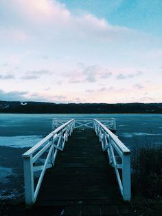 Lake Rocksjön in Jönköping, Sweden.