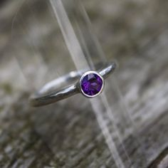 Silver and Amethyst Solitaire Ring £48.00