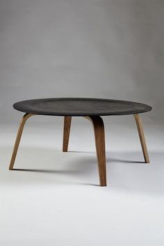 Charles and Ray Eames; #CTW Molded Plywood Coffee Table for Herman Miller, 1946.
