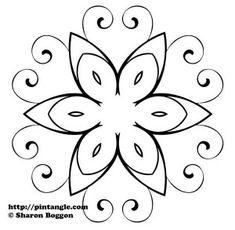 padrão de bordado a mão livre