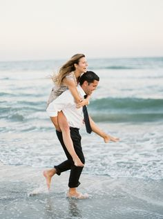 A Playful Engagement by the Sea | @jophotos  on @heyweddinglady | Marsala and Champagne Engagement on the Beach - http://heyweddinglady.com/marsala-and-champagne-engagement-on-the-beach/