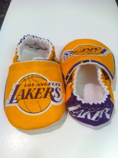 LA Lakers Cloth Baby Booties by saluna on Etsy, $15.00