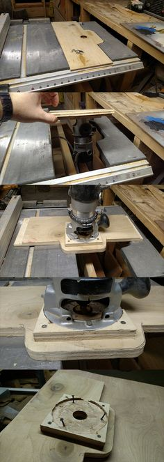 Contractor Saw Style Router Table Extension Wing