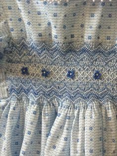 Hand smocked dress ! my mother would make these dresses for me, and then my younger cousins would love the hand-me-downs and wear them to pieces !