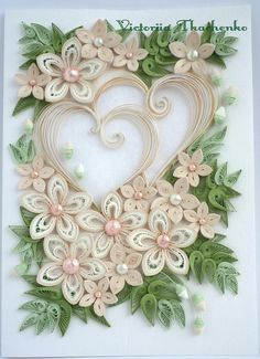 paper quilling hearts - Google Search