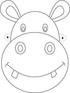 Hippo Mask printable coloring page for kids animals silly animals animal mashups animal printables majestic animals animals and pets funny hilarious animal Animal Mask Templates, Printable Animal Masks, Colouring Pages, Printable Coloring Pages, Coloring Pages For Kids, Kids Coloring, Animal Face Mask, Animal Faces, Animal Masks For Kids
