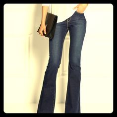 """New! PAPER, DENIM & CLOTH Designer Flare Jeans Brand new and guaranteed flawless & authentic, these are by one of today's hottest designers (my personal favo when it comes to those """"go-to-fav-never fails-us-jeans""""...Every woman needs a pair of these!!)  By clothing designer extraordinaire Paper Denim & Cloth. Women's sexy vintage stretch flare jeans in Style # 2-MOD-02. Medium wash features chic whiskering, w/ waist size 30 @ a perfect flare leg opening of 17"""" w/ slimming 34"""" inseam. These…"""