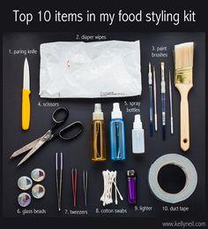 Kelly Neil, Halifax photographer - kellyneil.com - Top 10 Items In My Food StylingKit