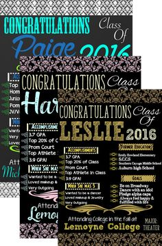 113 best modern graduation invites signs images on pinterest custom graduation party ideas custom damask graduation board customized girl damask grad party dec filmwisefo