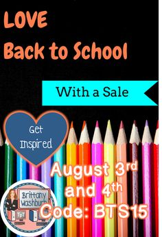 Prepare your wish list. Save 28% on resources from TpT August 3rd and 4th.