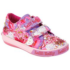 e1d89975 Buy Lelli Kelly Children's Lilac Fantasy Rip-Tape Shoes, Pink Online at  johnlewis.