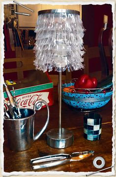 awesome recycled plastic soda bottle lamp
