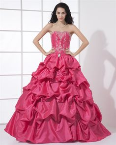 ce83f98f675 osell wholesale dropship Beautiful Sweetheart Neckline Floor Length Beading  Embroidery A-Line Taffeta Woman Quinceanera Dress  98.97