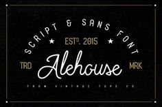 Alehouse Combo Font by Vintage Type Co. on @creativemarket