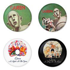 "QUEEN 1.75"" Badges Pinbacks, Mirror, Magnet, Bottle Opener Keychain http://www.amazon.com/gp/product/B00DQBFQYU"