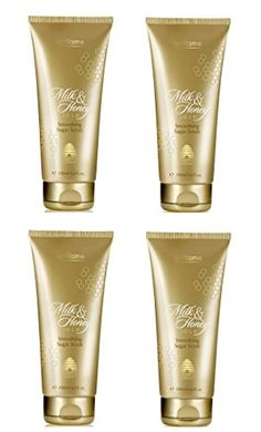 4 PIECES ORIFLAME MILK AND HONEY GOLD SMOOTHING SUGAR SCRUB WITH ORGANIC EXTRACTS OF MILK AND HONEY200 GM 66 OZ EACH100  ORIGINAL AUTHENTICLONG EXPIRY -- To view further for this item, visit the image link.
