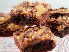 """""""Chocolate Caramel Brownies"""", Total Time: 1 hr 25 min, Prep 20 min, Inactive 30 min, Cook 35 min, Yield: 16 pieces, Level: Easy   Take a Quick Break"""