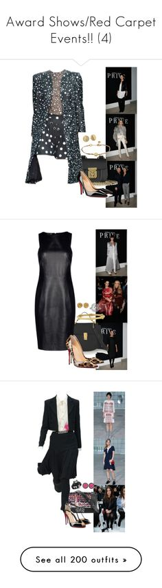 """""""Award Shows/Red Carpet Events!! (4)"""" by foreverforbiddenromancefashion ❤ liked on Polyvore featuring Armani Privé, Dolce&Gabbana, Chloé, Christian Louboutin, Kate Spade, Emporio Armani, Versus, Judith Ripka, Chanel and I.D. SARRIERI"""