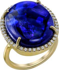Irene Neuwirth Black Opal & Diamond Ring - - Barneys.com