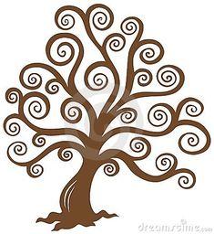 Siluetta marrone stilizzata dell albero