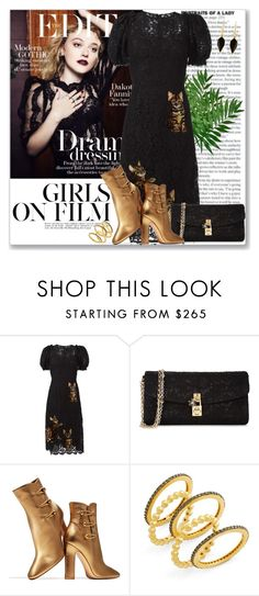 """Celeb Style: Dakota Fanning"" by coraline-marie ❤ liked on Polyvore featuring Dolce&Gabbana, Gianvito Rossi, Freida Rothman and Isabel Marant"