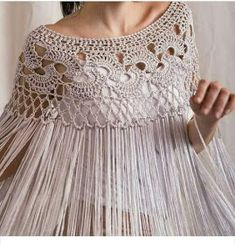 Silk poncho wedding shrug silk crochet poncho silk fringed shawl bridal shrug Bridal cover up silk crochet shawl Poncho Crochet, Col Crochet, Knit Shrug, Crochet Shawls And Wraps, Crochet Collar, Crochet Blouse, Crochet Scarves, Crochet Clothes, Poncho Shawl
