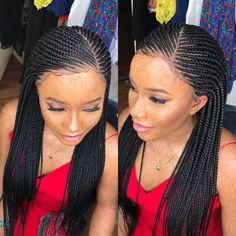 Side Cornrows With Box Braids Picture slant side part cornrow wig Side Cornrows With Box Braids. Here is Side Cornrows With Box Braids Picture for you. Side Cornrows With Box Braids cornrows in front box braids in ba. Box Braids Hairstyles, Cornrows With Box Braids, Box Braid Wig, Micro Braids, Braids Wig, Ghana Braids, Cornrows Braids For Black Women, Jumbo Braids, Dreadlock Hairstyles