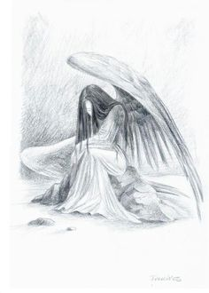 Fallen angel wings drawing fallen angel by ruth anne kackstaetter 8 best images of pencil drawings of angels beautiful angel pencil drawings angel drawing fallen of pencil sketches and angel pencil drawings thecheapjerseys Choice Image