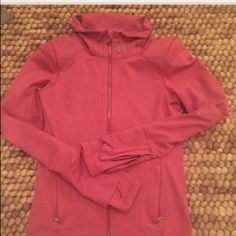 Under armour fitted jacket Brick red with white stripes. Gently used Under Armour Jackets & Coats