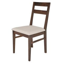 Caldor Mid Century Solid French Seared Oak Dining Chair. #kathykuohome