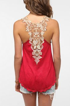 Staring at Stars Crochet Back Tank